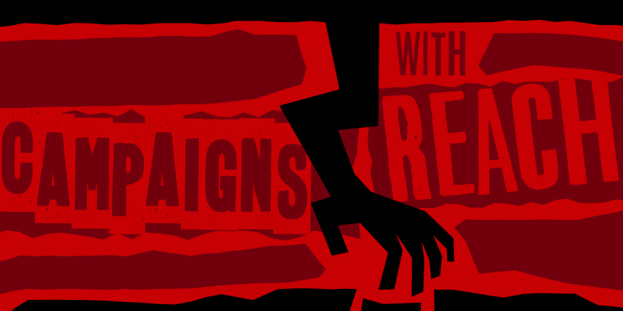 Multi-touch Campaigns Artwork inspired by Saul Bass