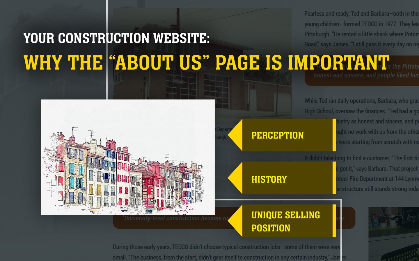 """Your Construction Company Website: Why """"About Us"""" is important."""